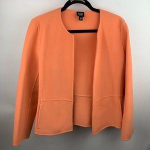 Eileen Fisher Orange Peach Wool Open Blazer PL